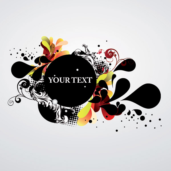 free vector The trend of dynamic vector ink background