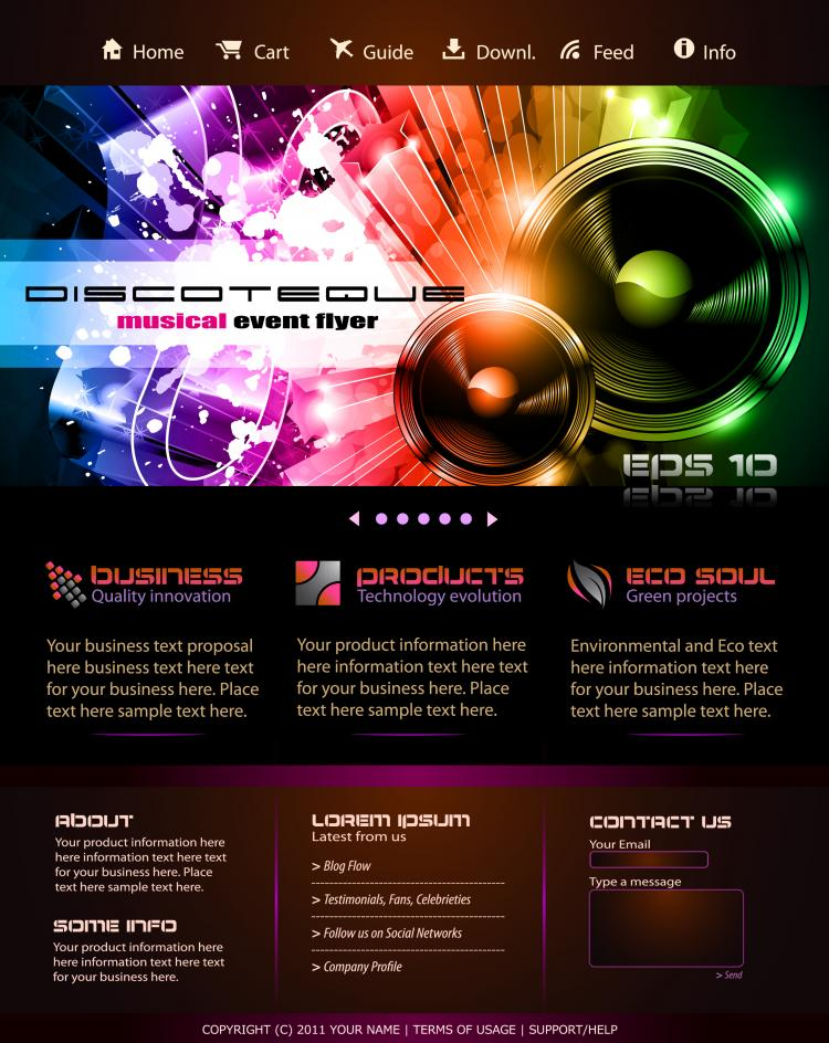 free vector The trend of dynamic website templates 01 vector