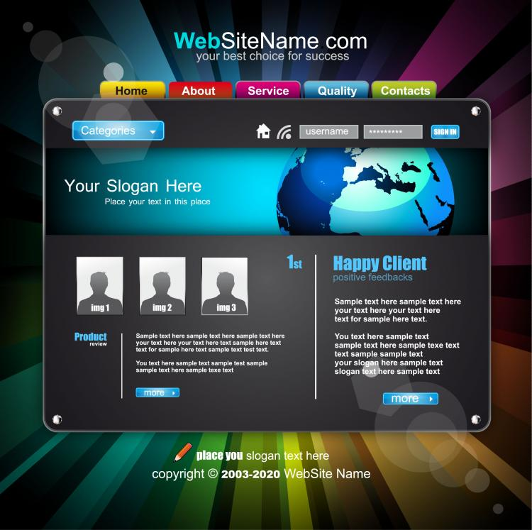 The trend of dynamic website templates 05 vector Free Vector / 4Vector