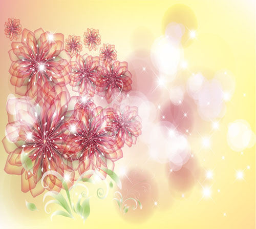 free vector The trend of flowers background 01 vector