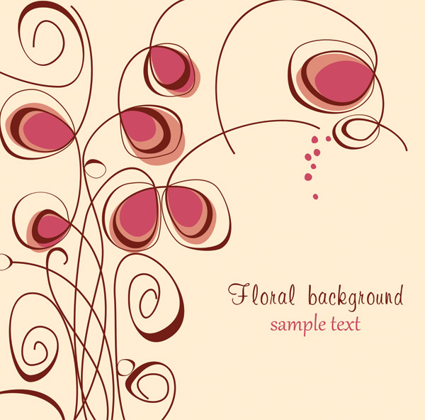 free vector The trend of handpainted pattern vector 4