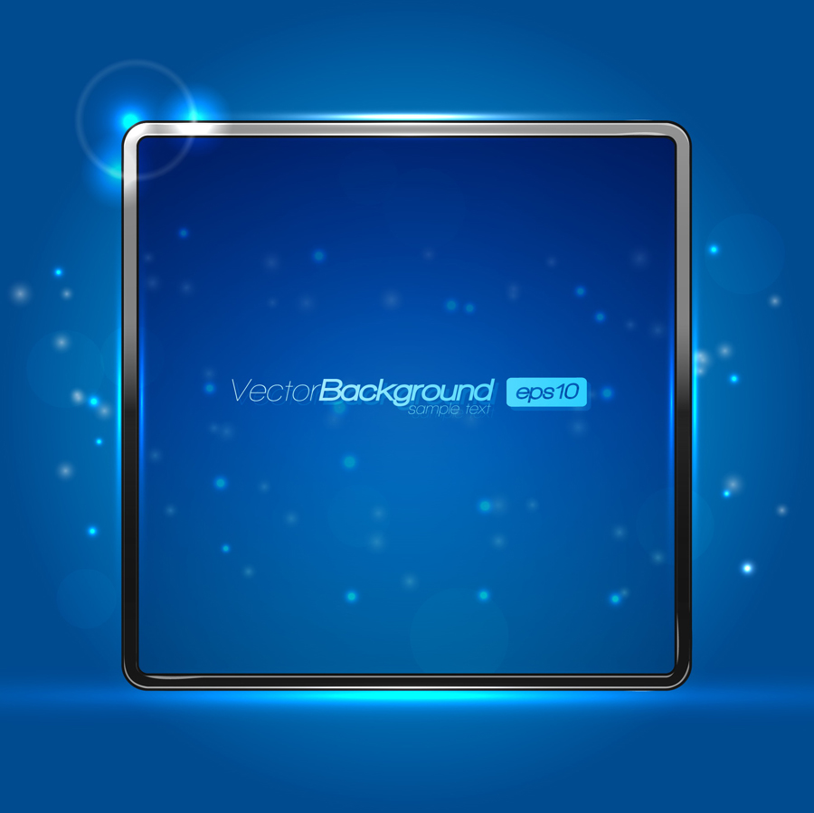 free vector The trend of light border 01 vector