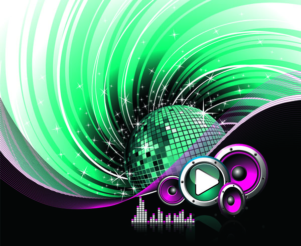 free vector The Trend of Music Illustration Vector Material 5