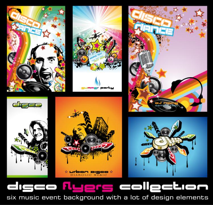 free vector The trend of music style pictures vector