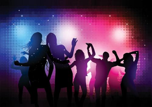 Party Silhouette Vector Free Free Vector The Trend of Party