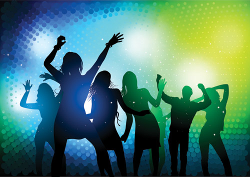 Party Silhouette Vector Free Silhouette Vector is Free