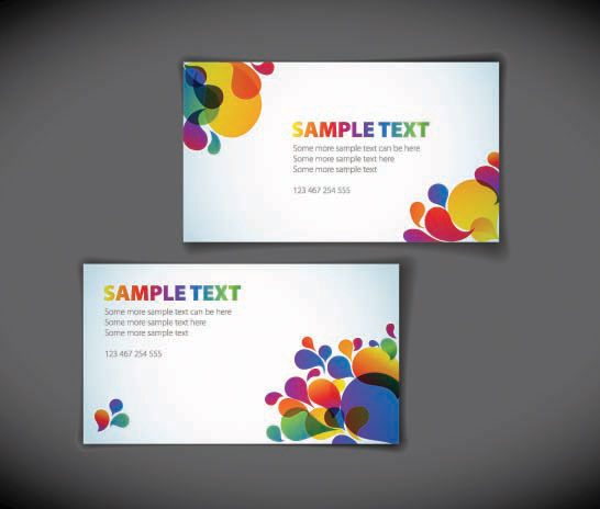 free vector The trend of the card background vector