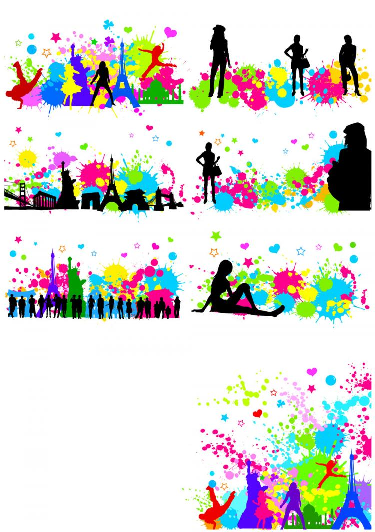 free vector The trend of urban ink character sketch vector