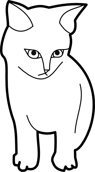 free vector Themanwithoutsex Sitting Cat Outline clip art