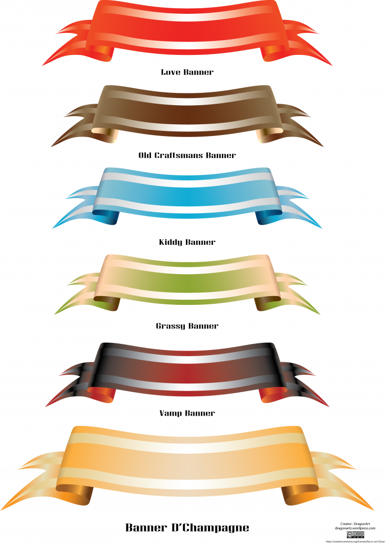 Theme Colored Banner Set Free Vector / 4Vector