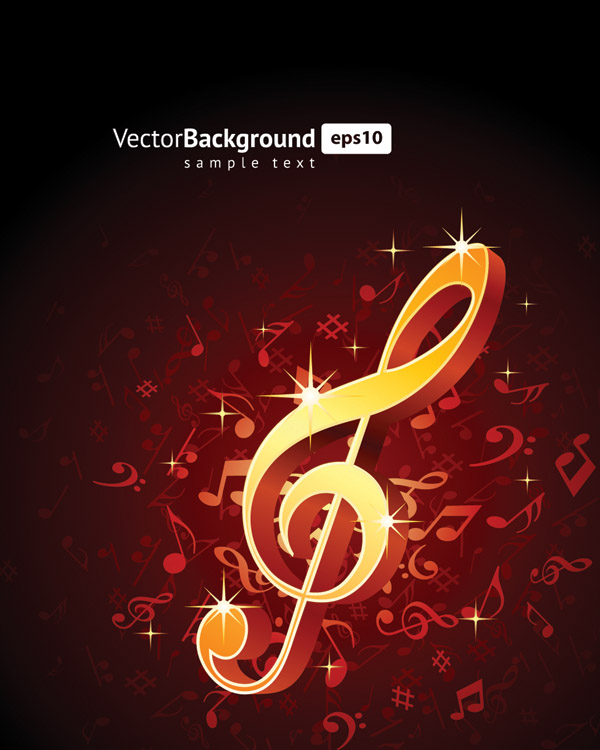 free vector Theme music notes vector 5