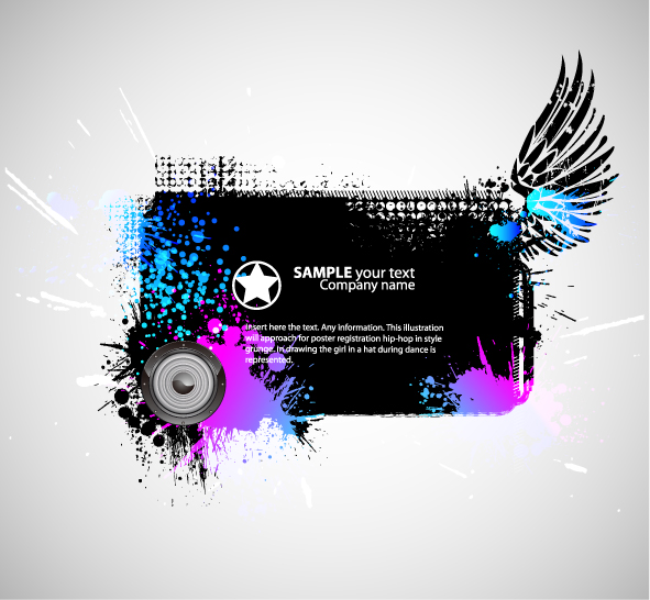 free vector Theme music silhouette vector the trend