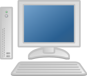 free vector Thin Client Lcd Keyboard clip art