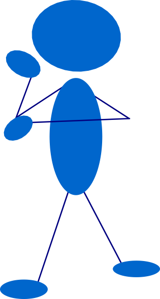 free vector Thinking Blue Stick Man clip art