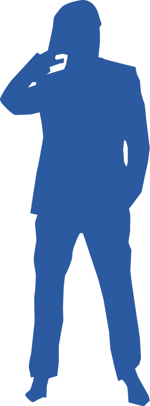 free vector Thinking man silhouette
