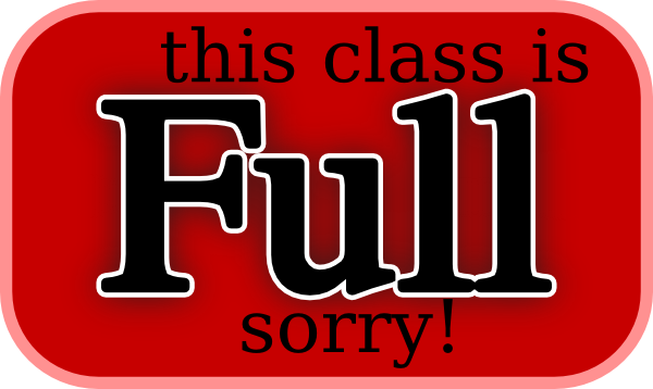 this class is full sorry clip art free vector 4vector