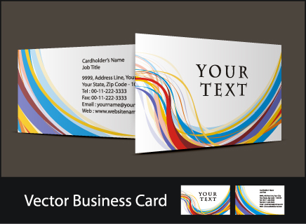 free vector Three beautiful business card vector
