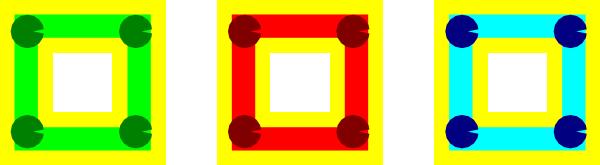 free vector Three Block Icons clip art