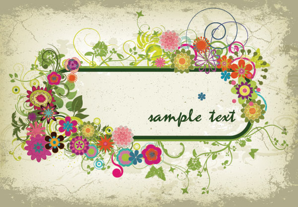 free vector Three colorful graphics border vector