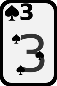 free vector Three Of Spades clip art