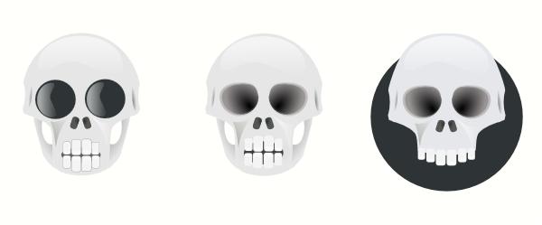 free vector Three Skull clip art