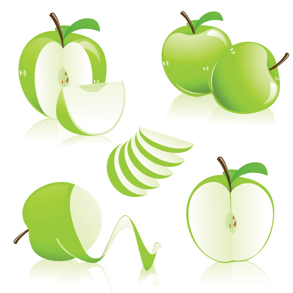 free vector Threecolor apple vector