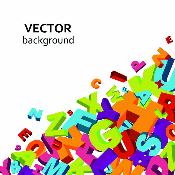 free vector Threedimensional alphanumeric vector background vector