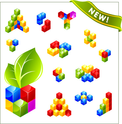 free vector Threedimensional box logo vector
