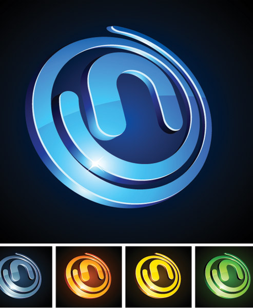free vector Threedimensional circular vector graphics icon