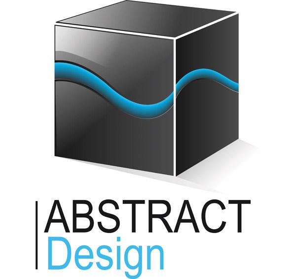 free vector Threedimensional graphics logo vector