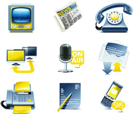 free vector Threedimensional icon vector science and technology topics