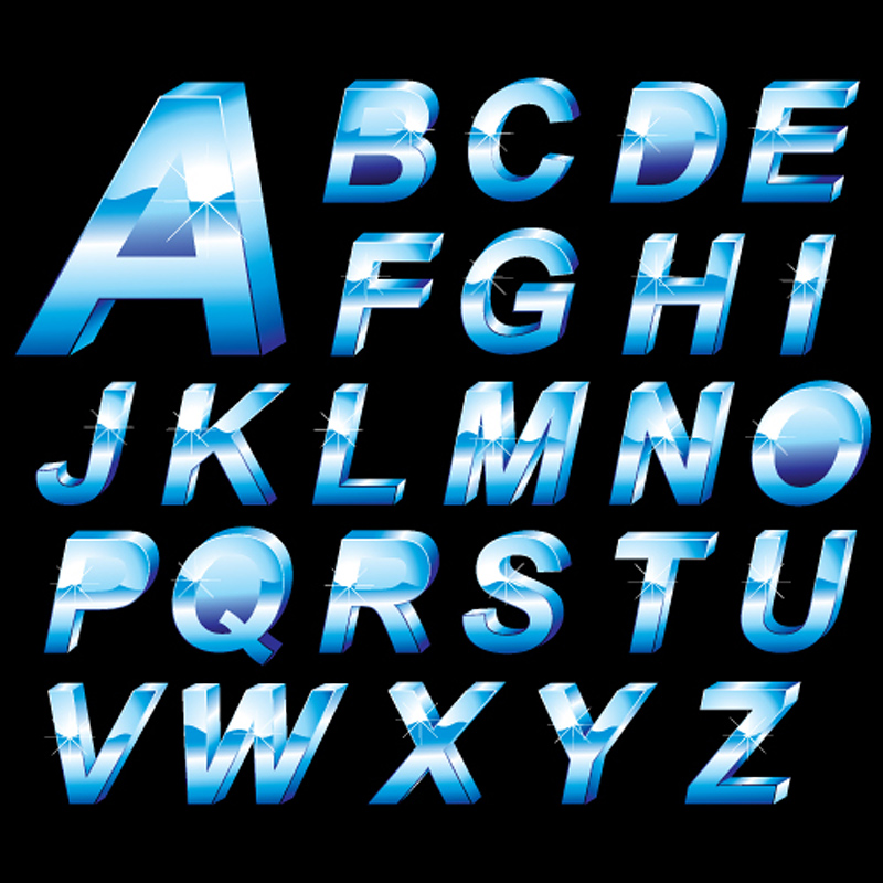 free vector Threedimensional letters design series 10 vector