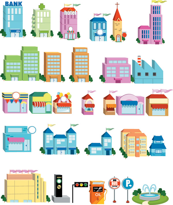 free vector Threedimensional small house icon vector