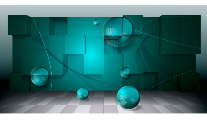 free vector Threedimensional space for creative business background vector 3