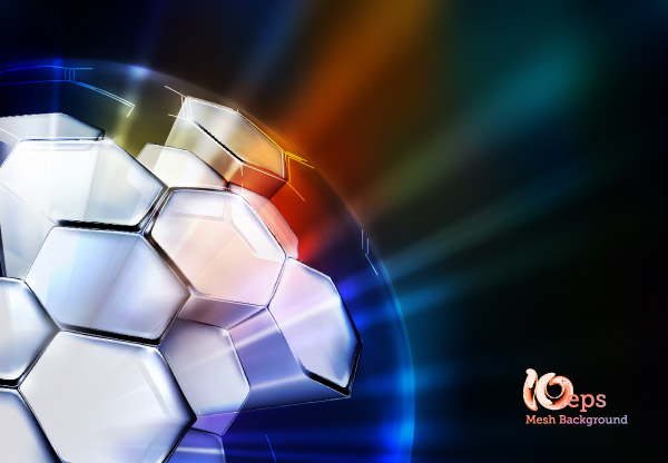 free vector Threedimensional spherical vector cool glare