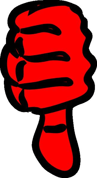 free vector Thumbs Down clip art