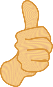 free vector Thumbs Up clip art