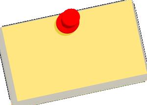 free vector Thumbtack Note Blank clip art