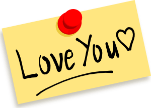 free vector Thumbtack Note Love You clip art