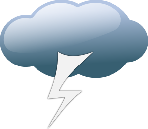 free vector Thunderstorm Weather Symbols clip art