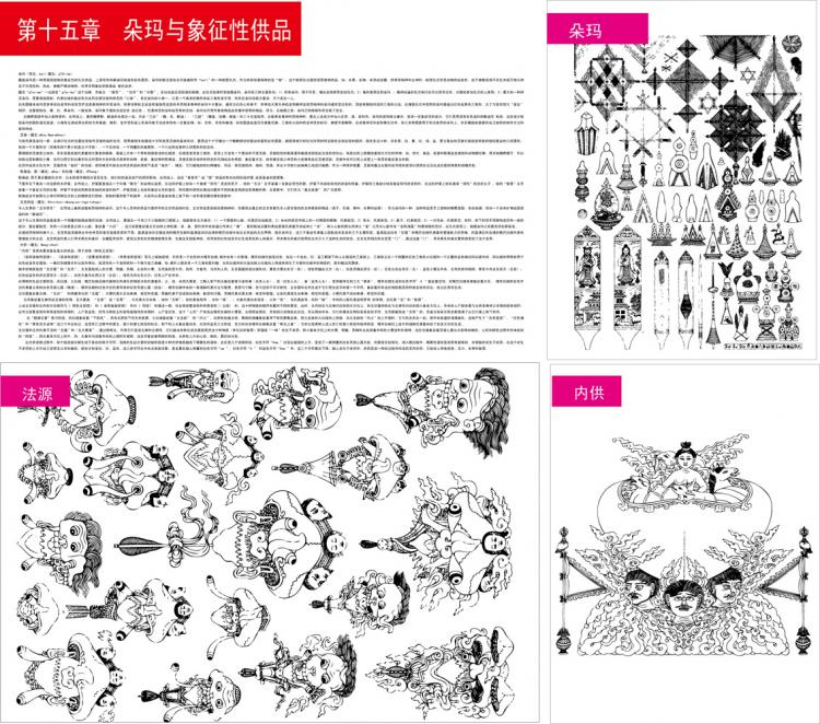 free vector Tibetan buddhist symbols and objects figure of fifteen duo mary and symbolic offerings vector