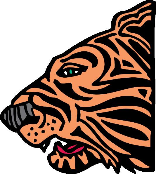 free tiger head clip art - photo #14