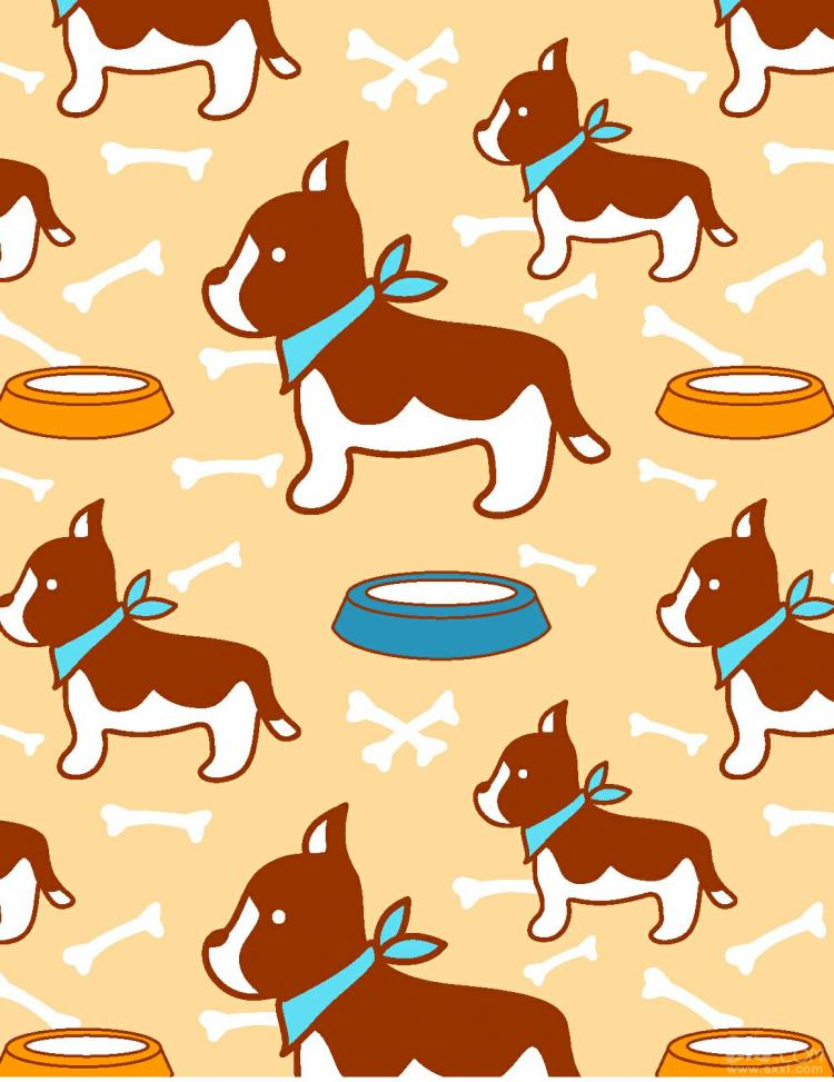free vector Tile vector super cute puppy