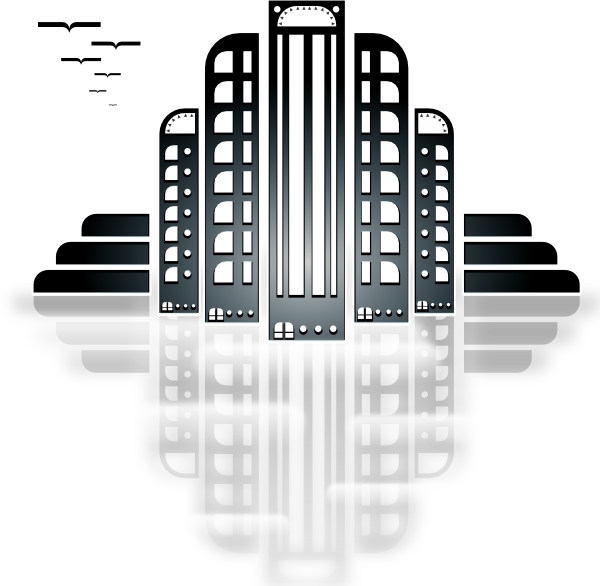 free vector Tiothy City Art Deco clip art