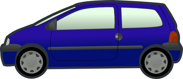 free vector Tobias Blue Twingo clip art