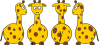 free vector Tobias Cartoon Giraffe Front Back And Side Views clip art