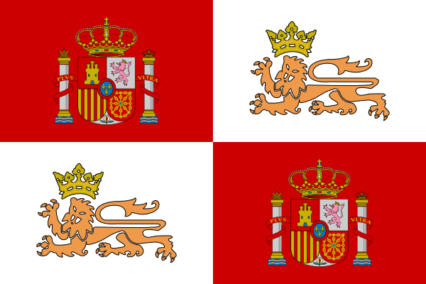 free vector Tobias Historic Flag Of The Spain Royal Navy clip art