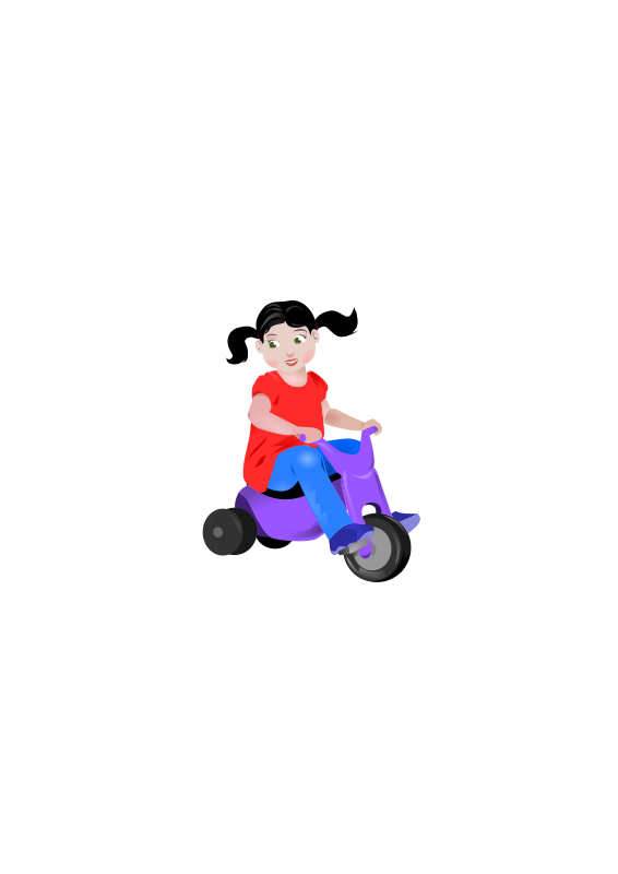 free vector Toddler On Trike
