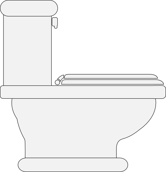 free vector Toilet Seat Closed clip art