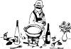 free vector Tom Grumpy Chef clip art